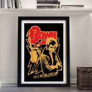 BLUE SHAKER VINTAGE PRINTS DAVID BOWIE