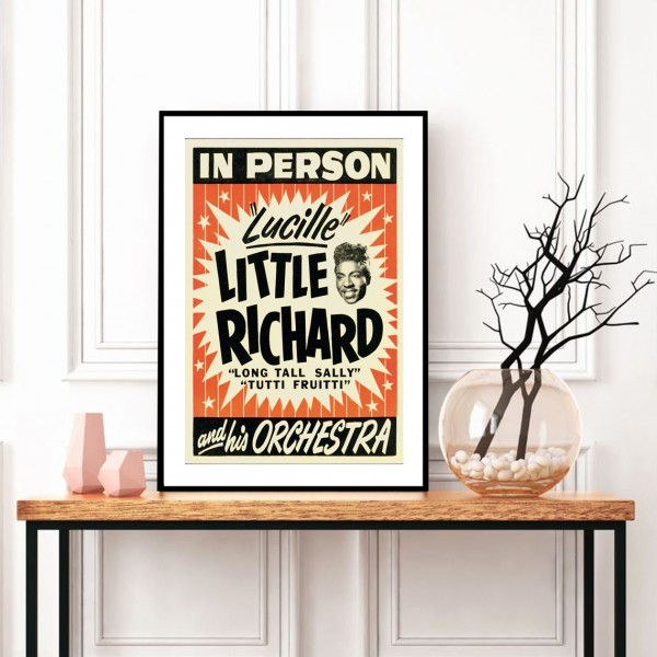 BLUE SHAKER VINTAGE PRINTS LITTLE RICHARD