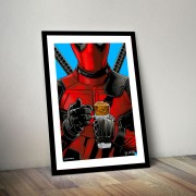 BLUE SHAKER POSTER STILE VINTAGE DEADPOOL
