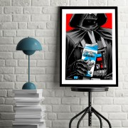BLUE SHAKER POSTER STILE VINTAGE DARTH VADER