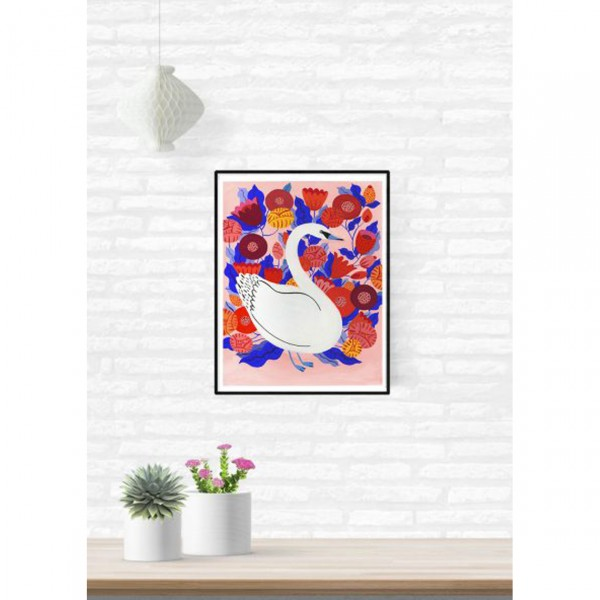 """SERGEANT PAPER POSTER """"WHITE SWAN"""" BY AGATHE SINGER"""