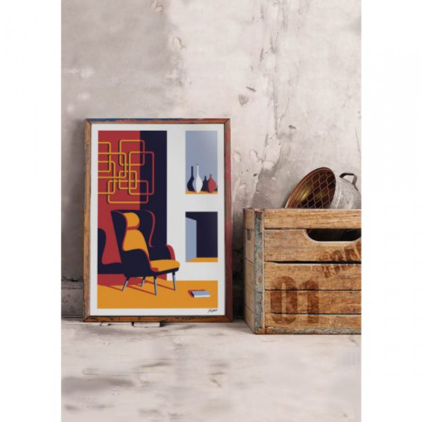 """SERGEANT PAPER ART PRINT """"NO FIRE NO READING"""" BY JEREMY BOOTH"""