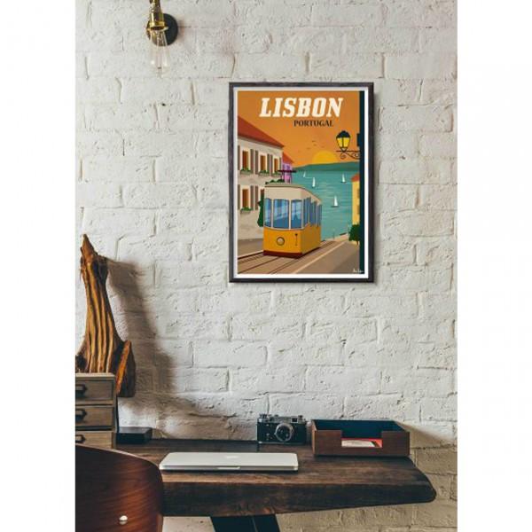 """SERGEANT PAPER ART PRINT """"LISBON"""" BY ALEX ASFOUR"""