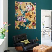 IXXI TEXTILE DESIGN WITH FLOWERS WALLPAPER POSTER 80X100
