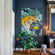 IXXI TIGER JUNGLE & TOUCAN FAMILY WALLPAPER POSTER 80X100