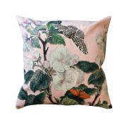 VANILLA FLY VELVET CUSHION APPLEBLOSSOM PINK