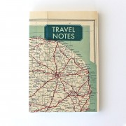SUKIE VINTAGE LINEN MAP JOURNAL