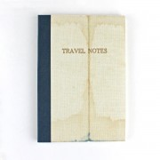 SUKIE LINEN MAP TRAVEL NOTES IN BLUE