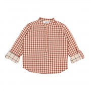 "BUHO CHECK SHIRT ""PAUL"" VICHY BRICK"