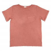 "BUHO POCKET T-SHIRT ""JAMES"" BRICK"
