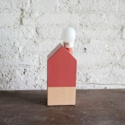 USTA CREA ARTISAN WOOD LAMP CHERRY