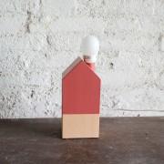 USTA CREA LAMPADA PALAZZO IN LEGNO CILIEGIA