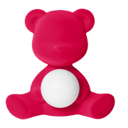 QEEBOO TEDDY GIRL LAMP VELVET FINISH FUXIA