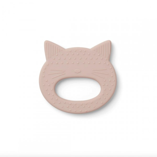 """LIEWOOD """"GEMMA"""" SILICONE TEETHER CAT ROSE"""