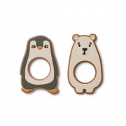 "LIEWOOD ""GILI"" TEETHER 2 PACK HUNTER GREEN"