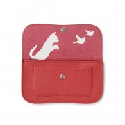 "KEECIE WALLET ""CAT CHASE"" CORAL"
