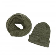 AMMEHOELA ARMY SCARF AND HAT SET