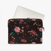 WOUF BLACK FLOWERS LAPTOP SLEEVE 15""