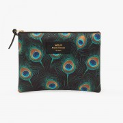 WOUF PEACOCK LARGE POUCH