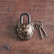 NKUKU LION BRASS PADLOCK