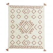 MADAM STOLTZ TUFTED COTTON RUG W/ TASSELS 140x200