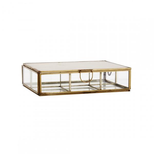 MADAM STOLTZ GLASS BOX W/ ROOMS AND MIRROR