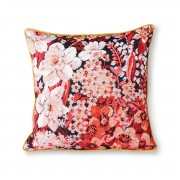 HK LIVING PRINTED FLORAL CUSHION COLOURED