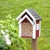 WILDLIFE GARDEN BIRD FEEDER WITH BATH RED HOUSE