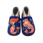 LAIT ET MIEL SOFT LEATHER BABY SLIPPERS MERMAID